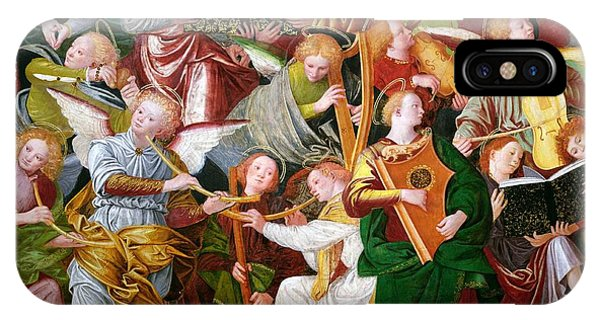 Trumpet iPhone X / XS Case - The Concert Of Angels by Gaudenzio Ferrari
