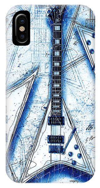 Concorde iPhone Case - The Concorde Blueprint by Gary Bodnar