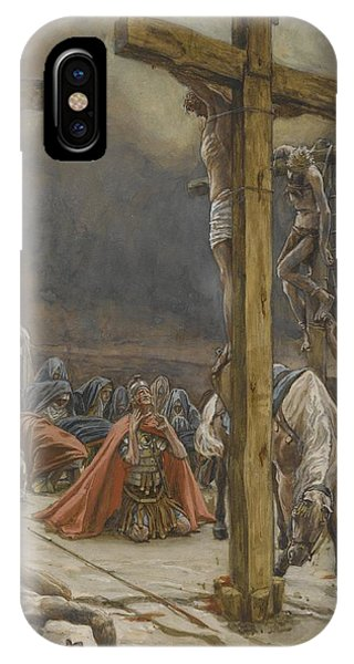 Life Of Christ iPhone Case - The Confession Of Saint Longinus by Tissot