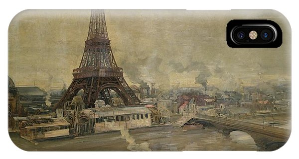 The Construction Of The Eiffel Tower IPhone Case