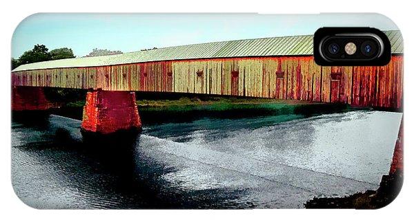 The Cornish-windsor Covered Bridge  IPhone Case