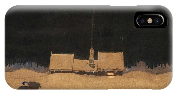 Swedish Painters iPhone Case - The Cottage At The Foot Of The Mountain by John Bauer