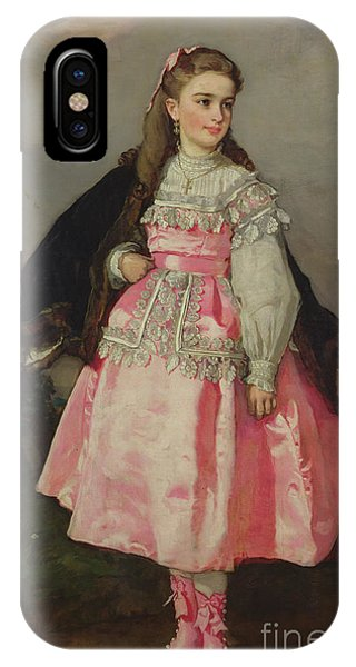Girls In Pink iPhone Case -  The Countess Of Santovenia by Eduardo Rosales