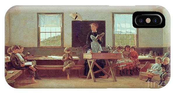 Classroom iPhone Case - The Country School by Winslow Homer