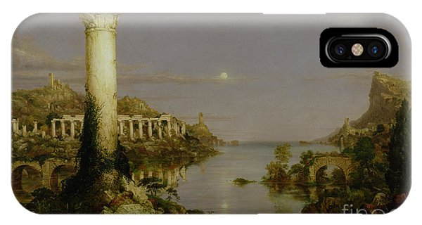 Columns iPhone Case - The Course Of Empire - Desolation by Thomas Cole