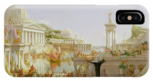 Temple iPhone Case - The Course Of Empire - The Consummation Of The Empire by Thomas Cole