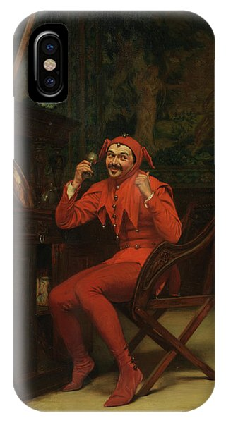 Child Actress iPhone Case - The Court Jester by Claude Andrew Calthrop