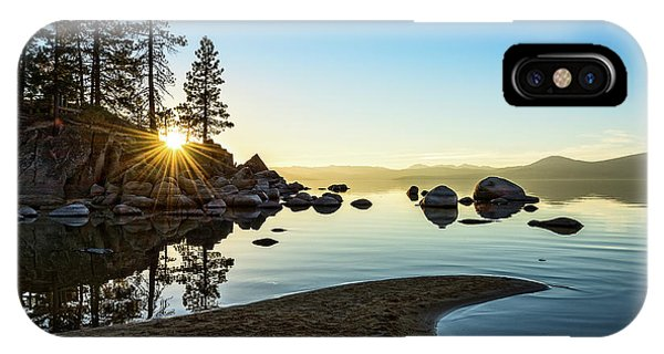 Rock Formation iPhone Case - The Cove At Sand Harbor by Jamie Pham