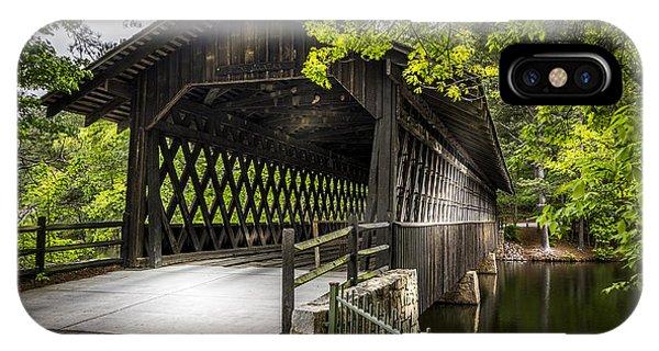 Covered Bridge iPhone Case - The Coverd Bridge by Marvin Spates