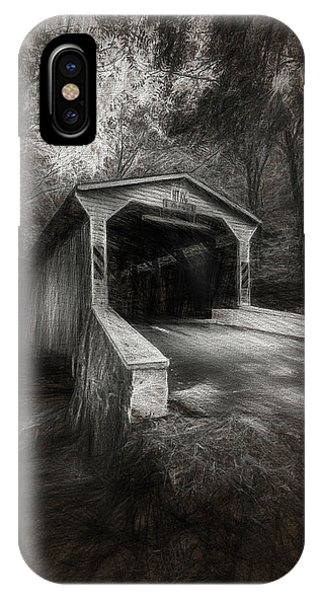 Covered Bridge iPhone Case - The Covered Bridge by Marvin Spates