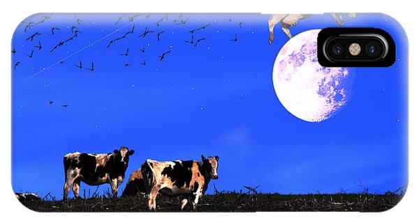 The Cow Jumped Over The Moon IPhone Case