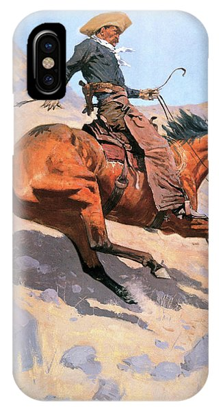 University iPhone Case - The Cowboy by Frederic Remington
