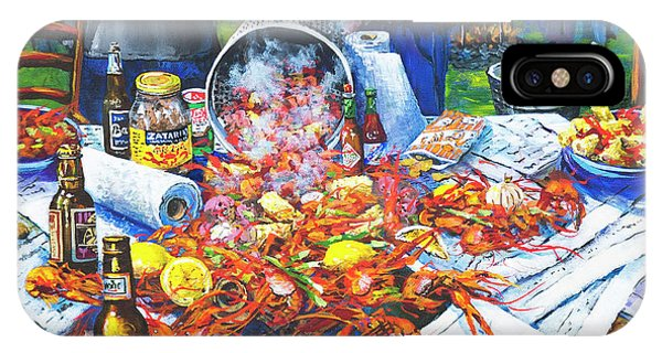 Food And Beverage iPhone Case - The Crawfish Boil by Dianne Parks
