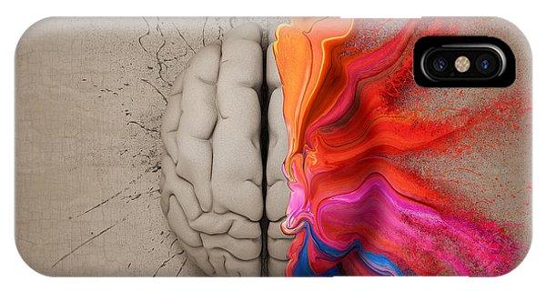 Creation iPhone Case - The Creative Brain by Johan Swanepoel