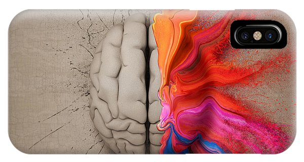 Colourful iPhone Case - The Creative Brain by Johan Swanepoel