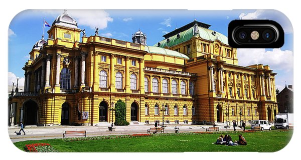 The Croatian National Theater In Zagreb, Croatia IPhone Case