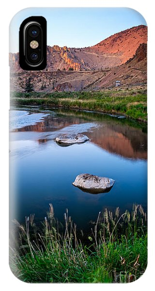 The Crooked River Runs Through Smith Rock State Park  IPhone Case