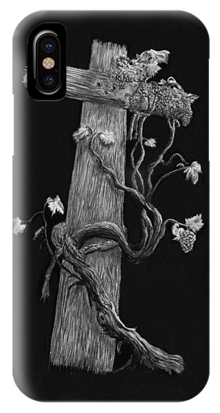 The Cross And The Vine IPhone Case