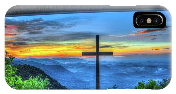 The Cross Sunrise At Pretty Place Chapel IPhone Case