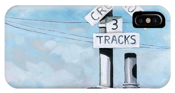 The Crossing - Train Signals IPhone Case