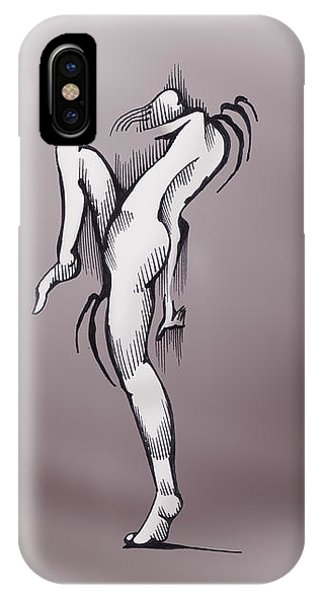 IPhone Case featuring the drawing The Dancer by Keith A Link
