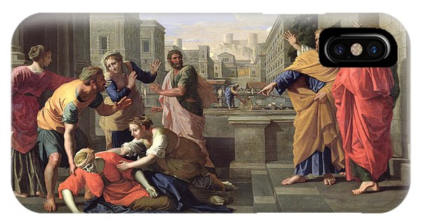 New Testament iPhone Case - The Death Of Sapphira by Nicolas Poussin