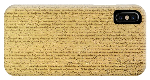 Rights iPhone Case - The Declaration Of Independence by Founding Fathers