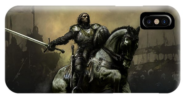 Knight iPhone Case - The Defiant by David Willicome