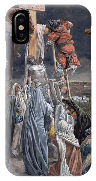 Crucifixion iPhone Case - The Descent From The Cross by Tissot
