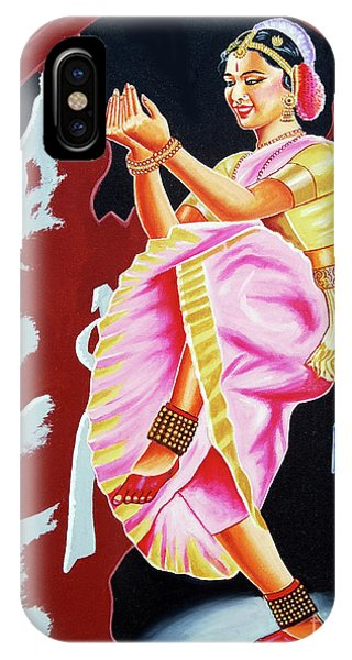 The Divine Dance Of Bharatanatyam IPhone Case