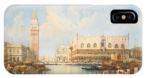 Palace iPhone Case - The Doge's Palace And Piazetta From The Lagoon, Venice by William Wyld