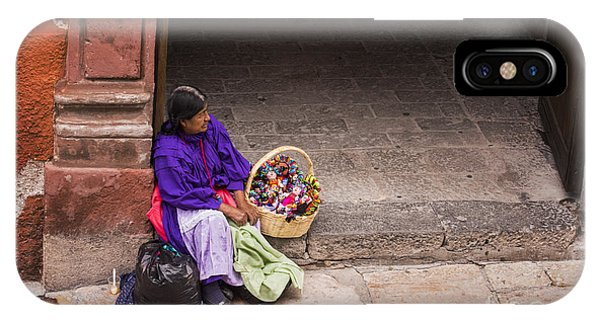 San Miguel iPhone Case - The Doll Peddler by Juli Scalzi