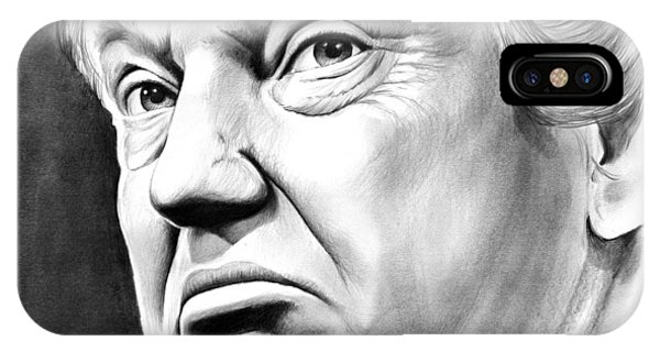 Graphite iPhone Case - The Donald by Greg Joens