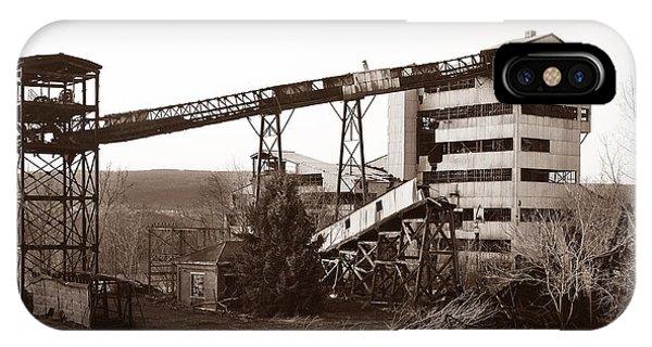 The Dorrance Coal Breaker Wilkes Barre Pennsylvania 1983 IPhone Case