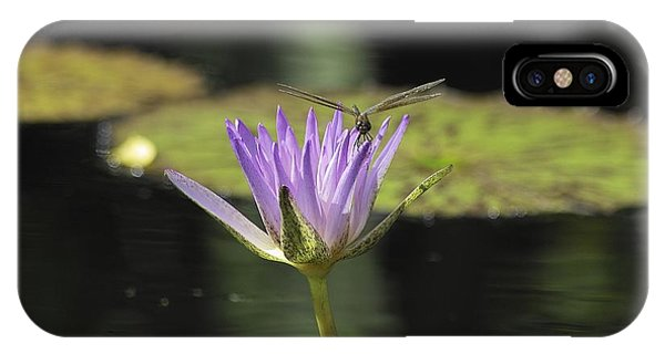 The Dragonfly And The Lily IPhone Case