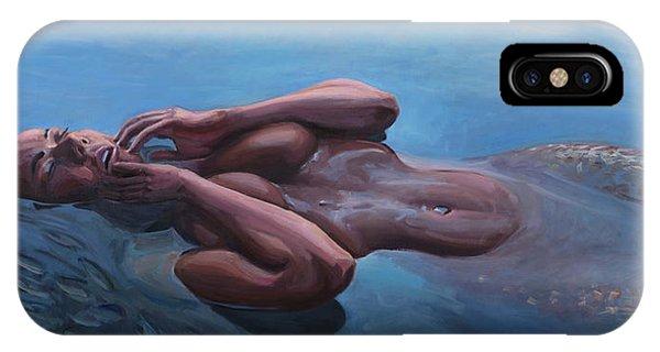 Awakening iPhone Case - The Dreaming Mermaid by Marco Busoni
