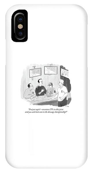 The Dressage Fan IPhone Case