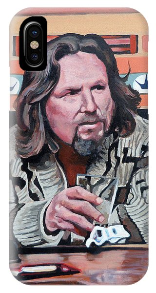 IPhone Case featuring the painting The Dude by Tom Roderick