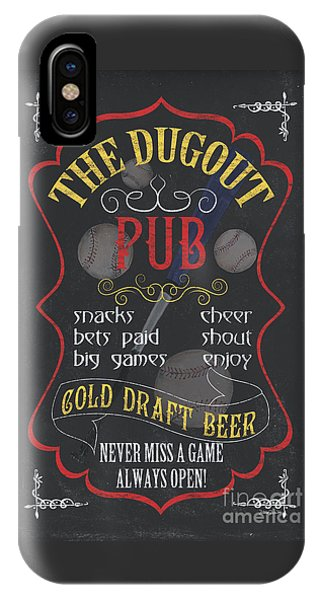 Baseball Bats iPhone Case - The Dugout Pub by Debbie DeWitt