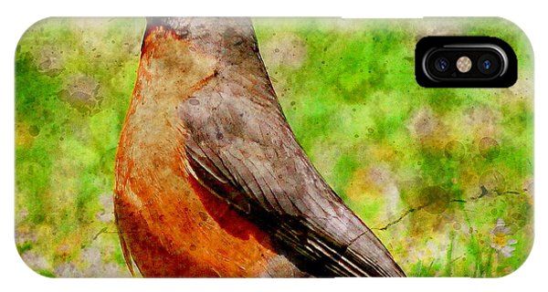 IPhone Case featuring the photograph The Early Bird . Texture . Square by Wingsdomain Art and Photography