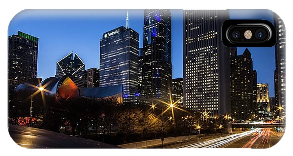 The East Side Skyline Of Chicago  IPhone Case
