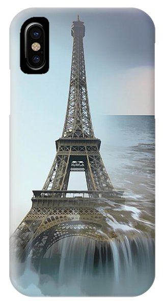 The Eiffel Tower In Montage IPhone Case