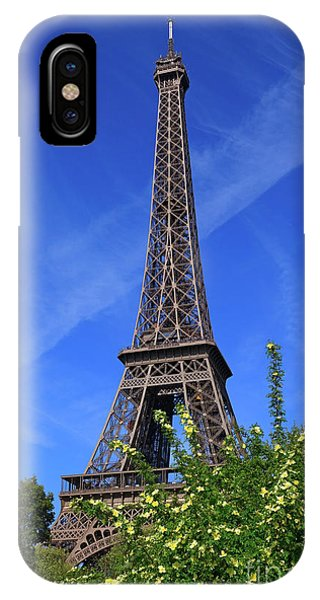Rosebush iPhone Case - The Eiffel Tower In Spring by Louise Heusinkveld