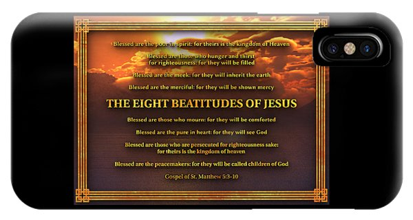 The Eight Beatitudes Of Jesus IPhone Case
