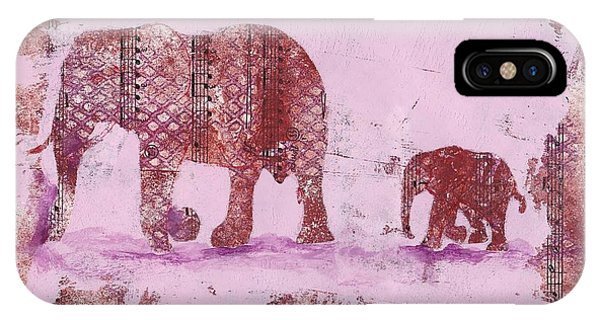 The Elephant March IPhone Case