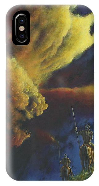 IPhone Case featuring the painting The Elven Watch On Ard-galen by Kip Rasmussen