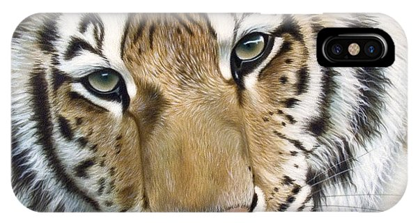 Tiger iPhone Case - The Embrace by Sandi Baker