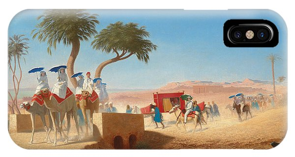 Barren iPhone Case - The Empress Eugenie Visiting The Pyramids by Charles Theodore Frere