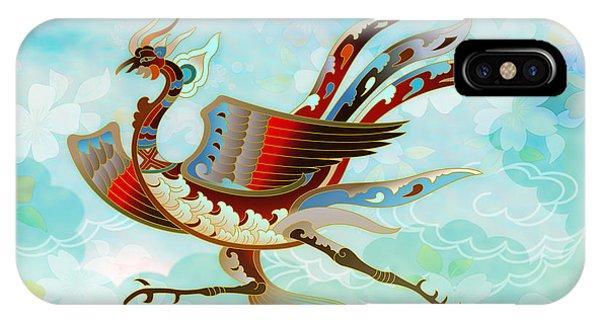 The Empress - Flight Of Phoenix - Blue Version IPhone Case
