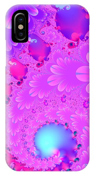 Julia Fractal iPhone X Case - The Enchanted Forest . Version 2 . S8 by Wingsdomain Art and Photography